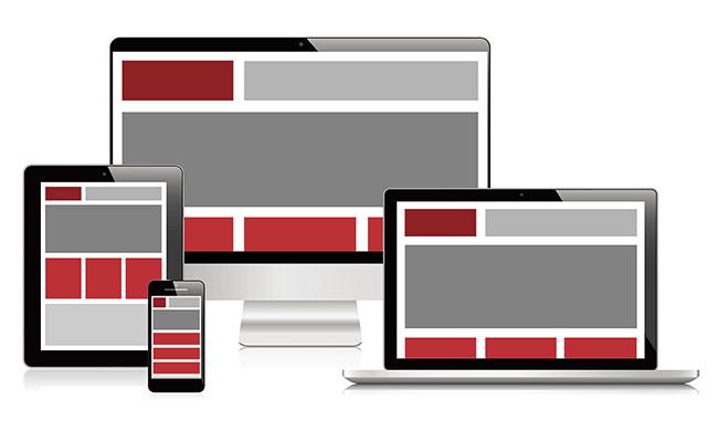 Responsive website design computer screens